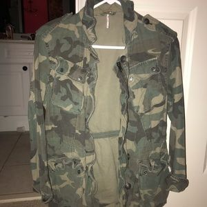 Free People camo utility jacket
